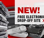 Waste electronics and used electrical equipment drop-off