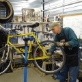Helping with Bikes!